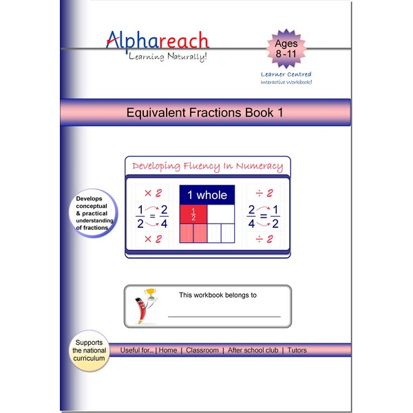 Equivalent Fractions Book 1