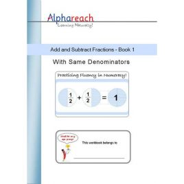 Add and Subtract Fractions Book 1