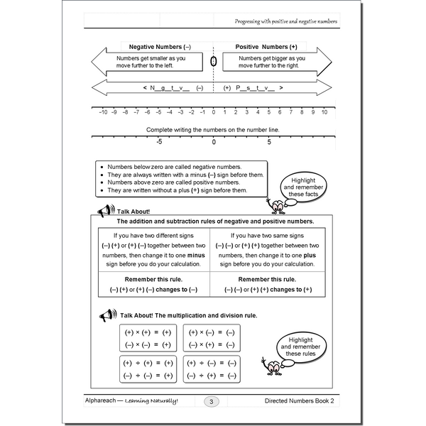 Directed Numbers Bk2_pg3_W